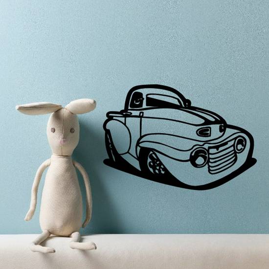 Cartoon Truck Wall Decal - Vinyl Decal - Car Decal - DC102