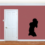 Praying Teen Silhouette Decal