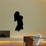 Praying Teenage Boy Silhouette Decal