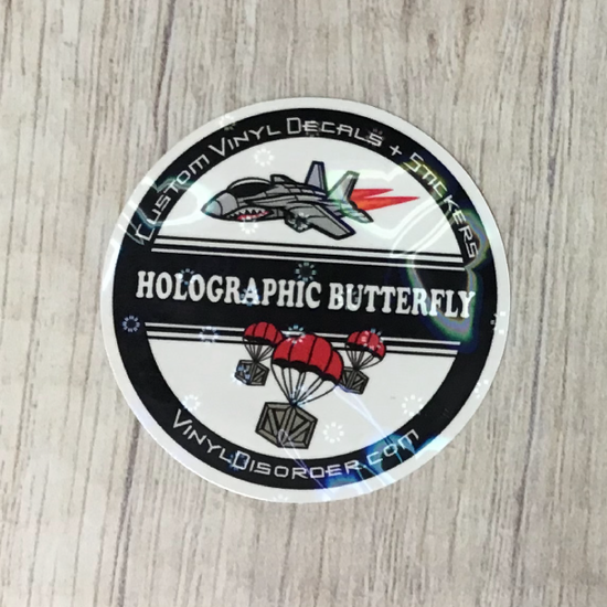 Holographic Butterfly Laminate