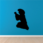 Cowboy Praying Silhouette Decal