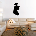 Cowboy on knees praying Decal