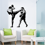 Kickboxing Kick to the Face Decal