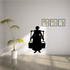 Woman Carring Water Jugs Silhouette Decal