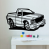 Cartoon Truck Wall Decal - Vinyl Decal - Car Decal - DC134