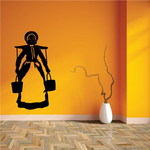 Woman Carring Water Jugs Decal