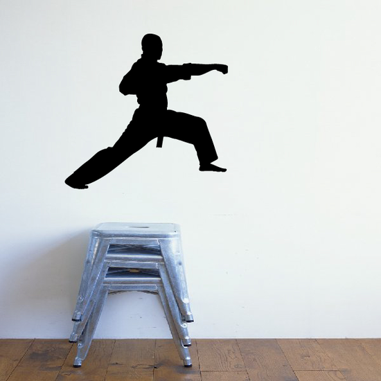 Front Stance High Punch Karate Decal
