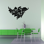 Dreamy Floral Grape Vine Wall Decal - Vinyl Decal - Car Decal - BA021