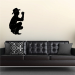 Crouching Cowboy Praying Decal