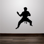 Karate Fighter Decal