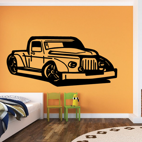 Cartoon Truck Wall Decal - Vinyl Decal - Car Decal - DC147