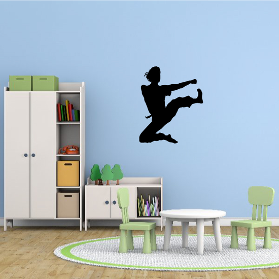 Karate Wall Decal - Vinyl Decal - Car Decal - AL 012