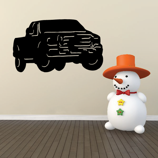 Ford f-250 f-350 Truck Wall Decal - Vinyl Decal - Car Decal - 004
