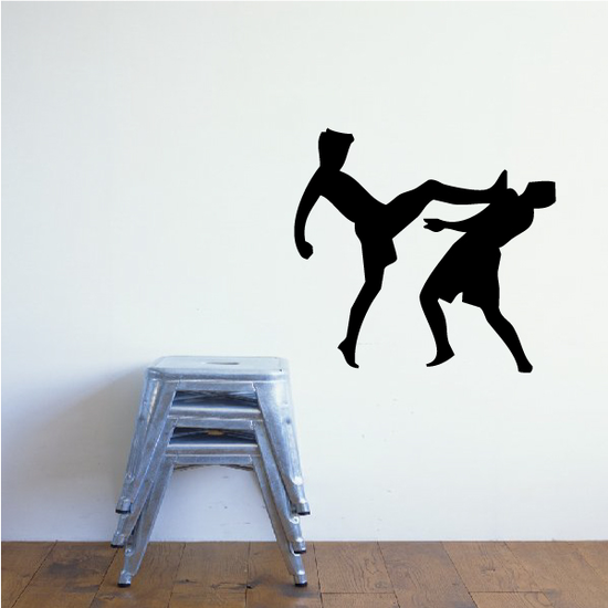 Fighting Wall Decal - Vinyl Decal - Car Decal - AL 002