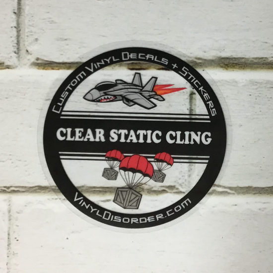 Clear Static Cling Sticker Vinyl