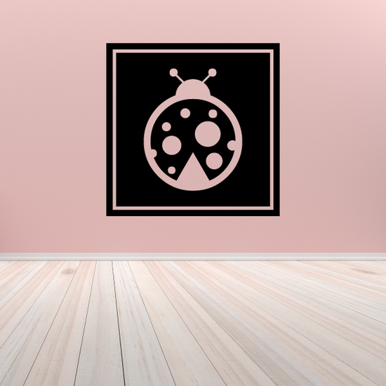 Ladybug in Square Frame Decal