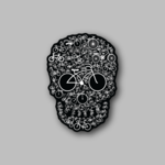 Bicycle Skull Sticker