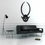 African Art Long Horn Mask Decal
