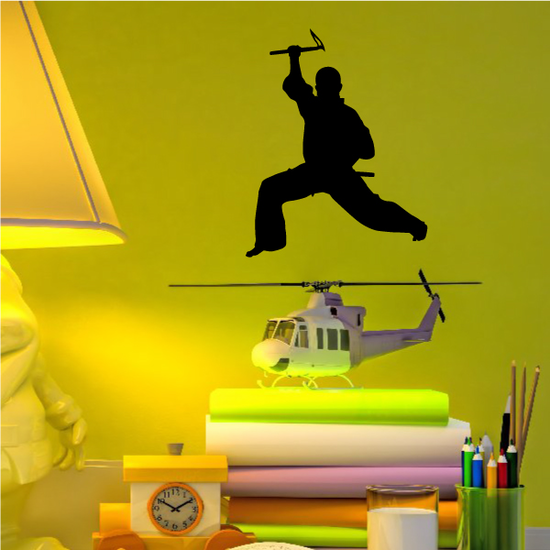Karate Wall Decal - Vinyl Decal - Car Decal - AL 019