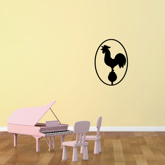 Weather Vane Rooster Decal