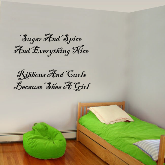 Sugar And Spice and everything nice Wall Decal