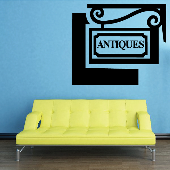 Antiques Sign Decal