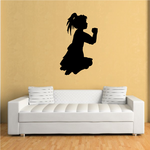 Praying Young Girl with closed hands decal