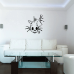 Skull Wall Decal - Vinyl Decal - Car Decal - CF413