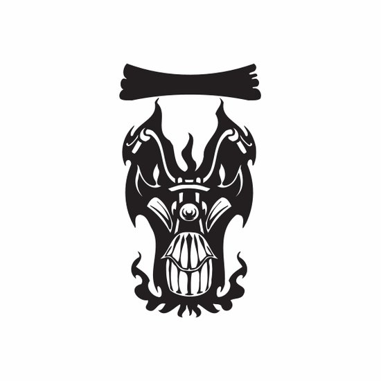 Chopper Wall Decal - Vinyl Decal - Car Decal - DC 146