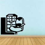 Office Chair Wall Decal - Vinyl Decal - Car Decal - MC41