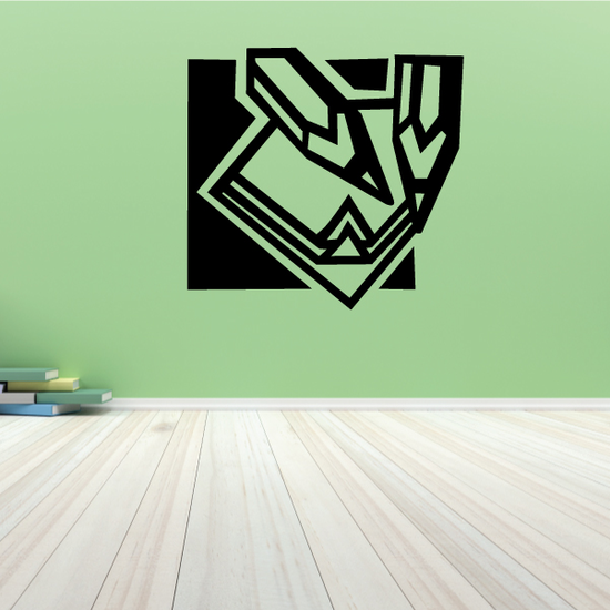 Pencils And Paper Wall Decal - Vinyl Decal - Car Decal - MC47