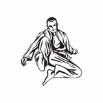Martial Arts Wall Decal - Vinyl Decal - Car Decal - DC 011