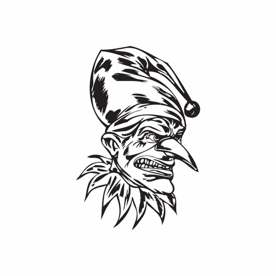 Pointy Nose Goblin Jester Decal