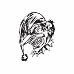 Angry Long Nose Jester Head Decal