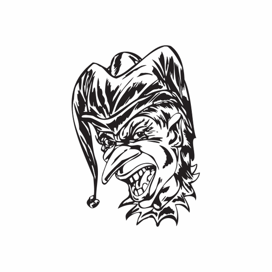 Talking Pointy Nose Jester Head Decal