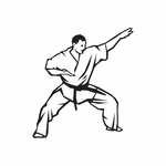 Martial Arts Wall Decal - Vinyl Decal - Car Decal - DC 016