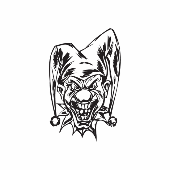Forked Hat Jester Head Decal