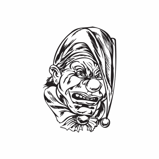Tired Jester Head Decal