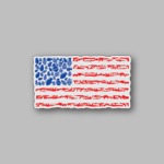 American Flag Weapons Collage Sticker