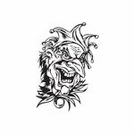Laughing Old Jester Head Decal