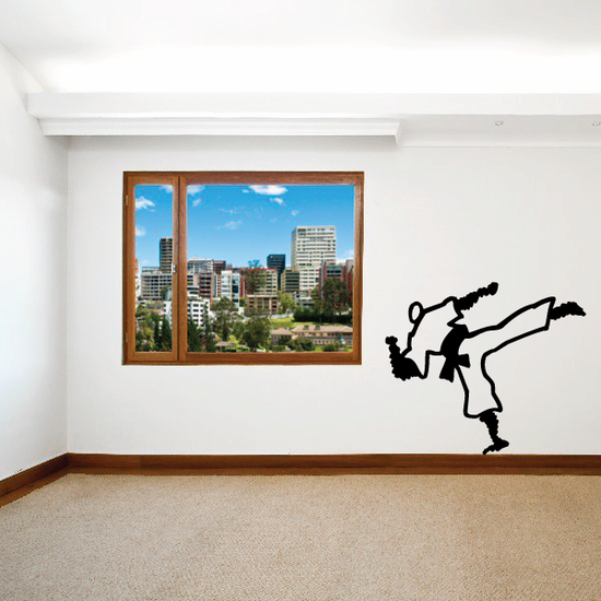 Karate Wall Decal - Vinyl Decal - Car Decal - Bl005