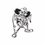 Golf Hat Clown with Slingshot Decal