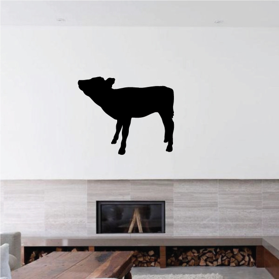 Calf Cow Standing Decal