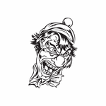 Golf Hat Clown with Bow Tie Decal