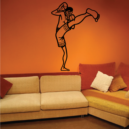 Kickboxing Wall Decal - Vinyl Decal - Car Decal - Bl001