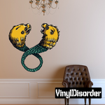 Twin Headed Lion Serpent Decal