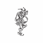 Dancing Jester Decal
