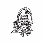 Angry Jester with Neckerchief Decal