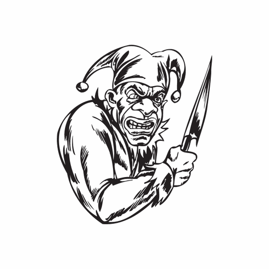 Jester with Chef Knife Decal