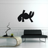 African Art Flat Lizard Decal